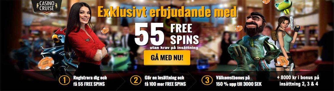 CasinoCruise - Exklusivt erbjudande